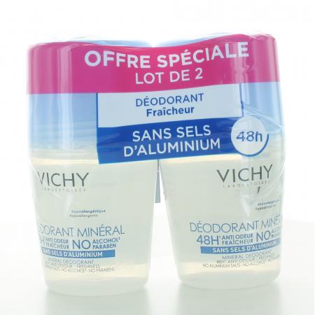 Vichy Déodorant Bille Minéral 48H Anti-odeur 2X50ml