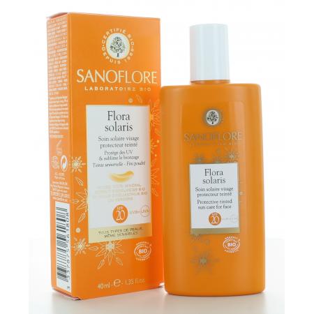 Sanoflore Flora Solaris Soin Solaire Teinté 40ml