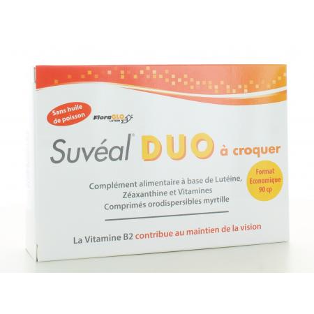 Suvéal Duo à croquer 90 comprimés
