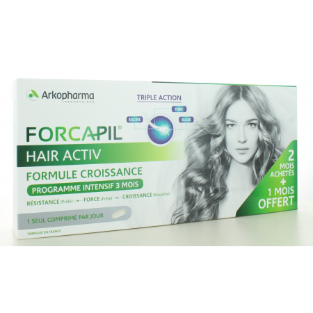 Forcapil Hair Activ Arkopharma 3X30 comprimés