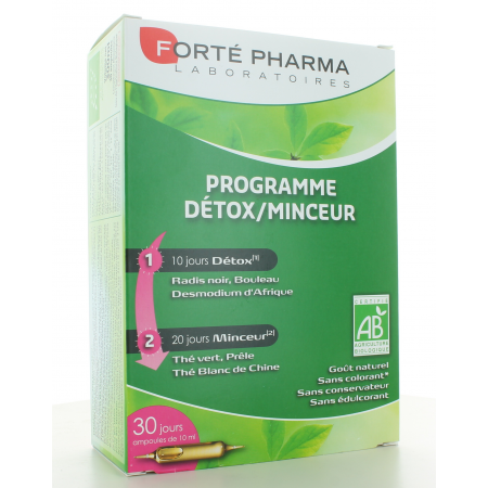 Programme Détox/Minceur Forté Pharma 30 ampoules