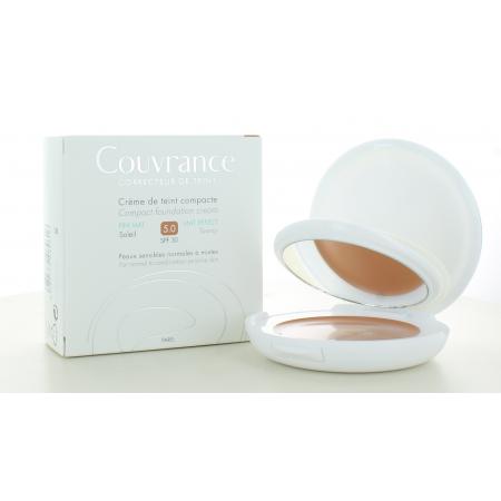 Avène Crème de Teint Compacte Couvrance Fini Mat Soleil 5.0