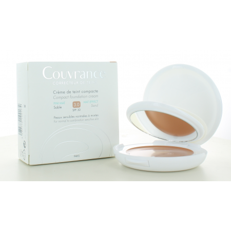 Avène Crème de Teint Compacte Couvrance Fini Mat Sable 3.0