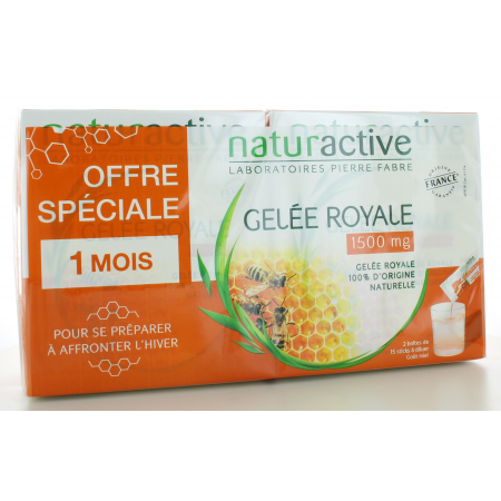 Gelée Royale 1500 mg Naturactive 2X15 sticks