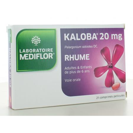 Kaloba 20mg Mediflor 21 comprimés