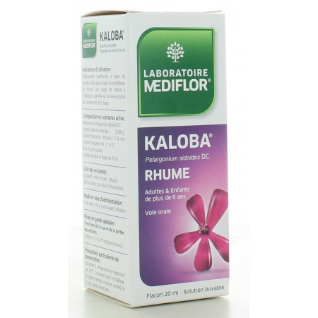 Kaloba Solution Buvable Mediflor 20 ml