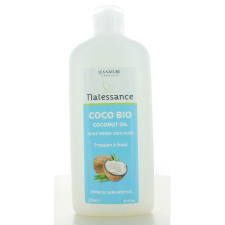 Huile Vierge Coco Bio Natessance 250 ml