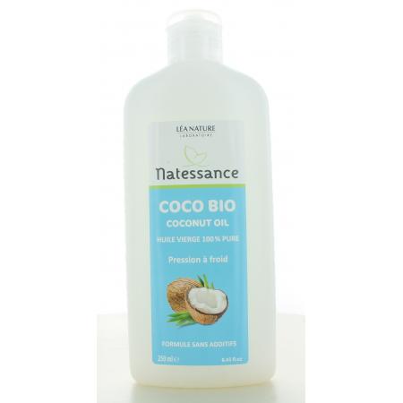 Natessance Huile Vierge Coco Bio 250ml