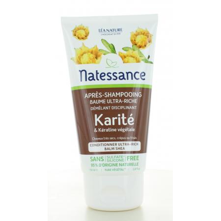 Natessance Après-shampooing Baume Ultra-riche Karité...