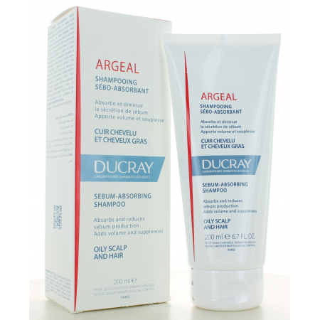 Shampooing Traitant Sébo-absorbant Argeal Ducray 200 ml