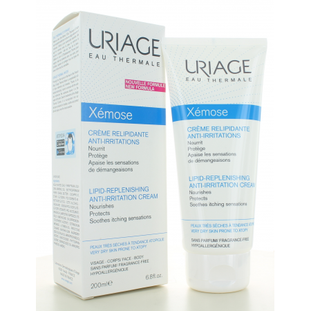 Crème Relipidante Anti-Irritations Xémose Uriage 200 ml