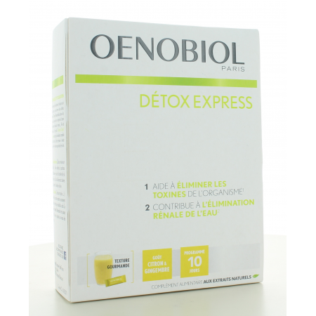 Oenobiol Détox Express Citron et Gingembre 10 sticks