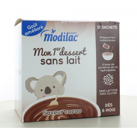 Modilac Mon 1er Dessert Cacao 12 sachets