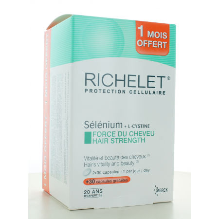 Force du Cheveu Richelet 60 capsules + 30