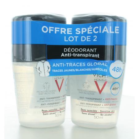 Vichy Homme Déodorant Anti-transpirant 48H 2X50ml