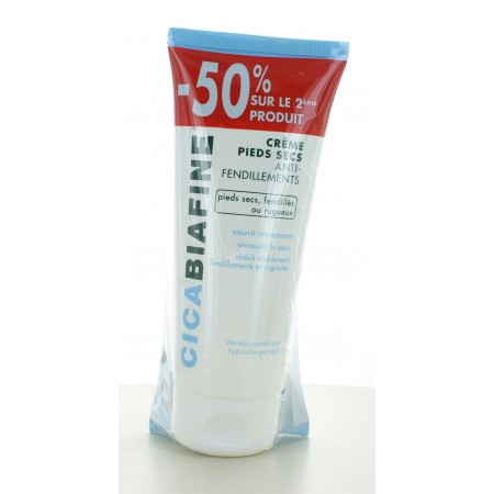 Crème Pieds Secs Cicabiafine 2X100 ml