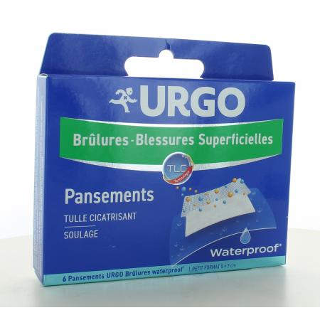 Urgo Brûlure Waterproof Petit Format 5X7cm 6 pansements
