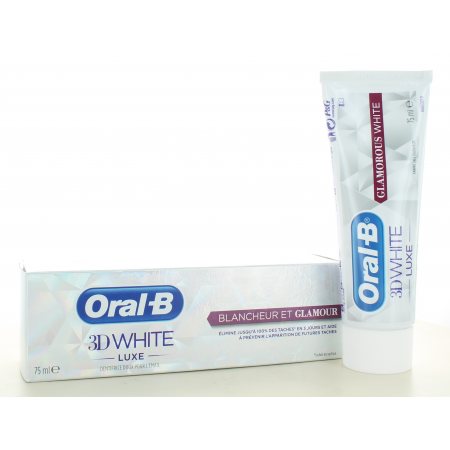 Dentifrice 3D White Luxe Blancheur et Glamour Oral-B 75 ml