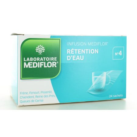 Infusion Mediflor n°4 Rétention d'Eau 24 sachets