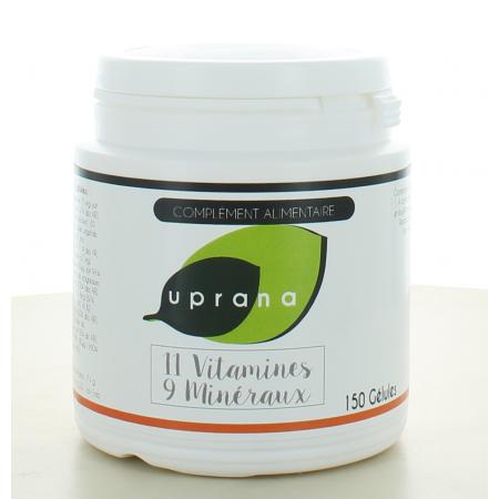 11 Vitamines - 9 Minéraux Uprana 150 gélules