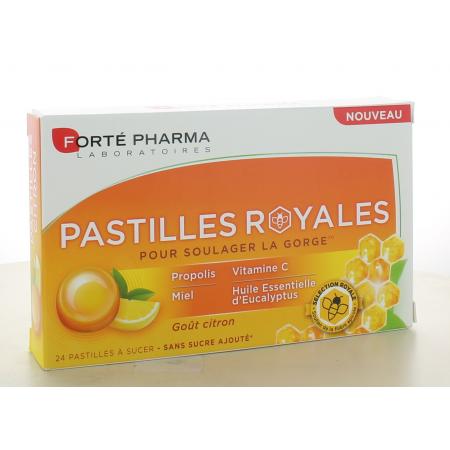 Pastilles Royales Goût Citron Forté Pharma 24 pastilles