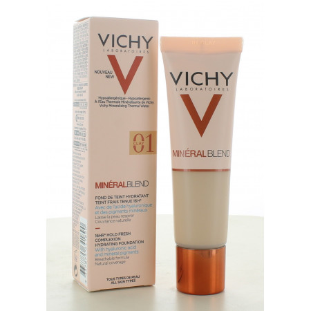 Vichy MinéralBlend Fond de Teint Hydratant 01 Clay 30ml
