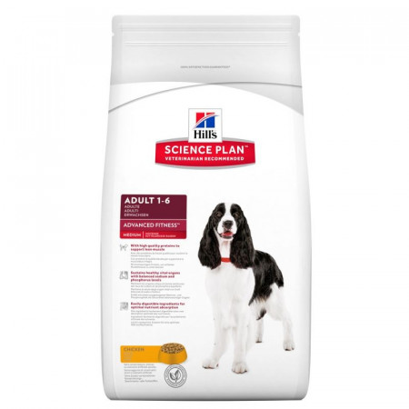 Croquettes Hill's Science Plan Canine Adult 1-6 Advanced Fitness Medium 2.5kg