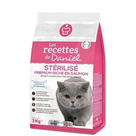 Croquettes Les Recettes de Daniel Premium Chat Stérilisé Saumon 3kg