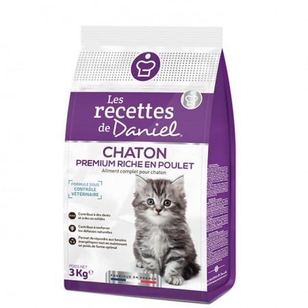 Croquettes Les Recettes de Daniel Premium Chaton Poulet 3kg