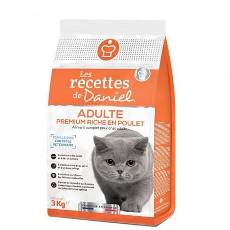 Croquettes Les Recettes de Daniel Premium Chat Adulte Poulet 3kg
