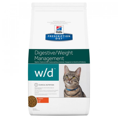 Croquettes Hill's Prescription Diet Féline Digestive/Weight Management w/d 1.5kg