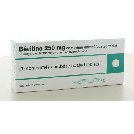 Bévitine 250 mg 20 comprimés