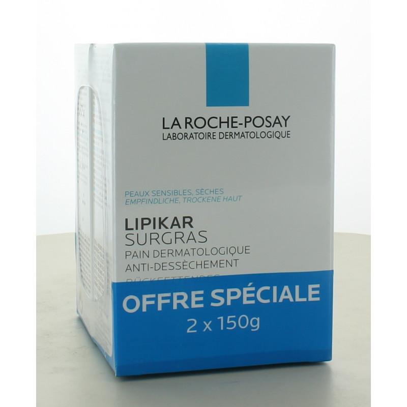 La Roche-Posay Pain Dermatologique Lipikar Surgras 2X150g