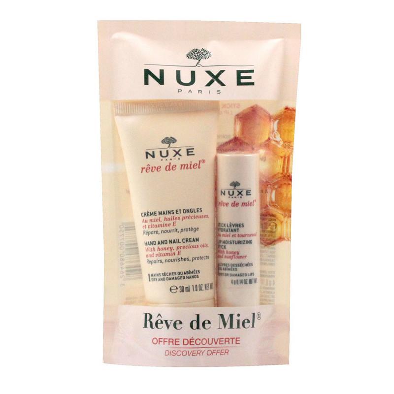 Nuxe Rêve de Miel Crème Mains et Ongles 30ml + Stick Lèvres Rêve de Miel