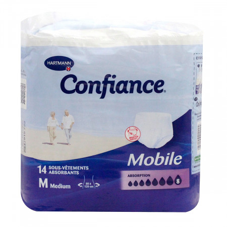 Confiance Mobile 14 Sous-vêtements Taille M