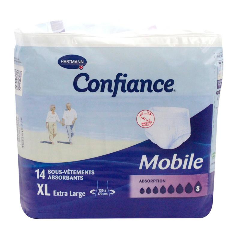 Confiance Mobile 14 Sous-vêtements Taille XL