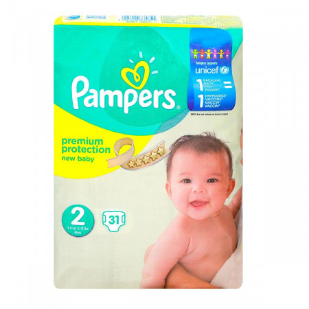 Pampers Premium Protection 3-6kg X31 couches