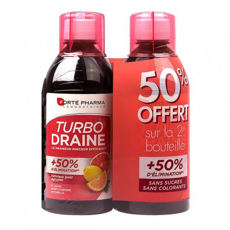 Draineur Minceur Turbodraine Goût Agrumes 2x500ml