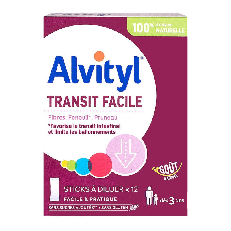 Alvityl Transit Facile X12 sticks à diluer