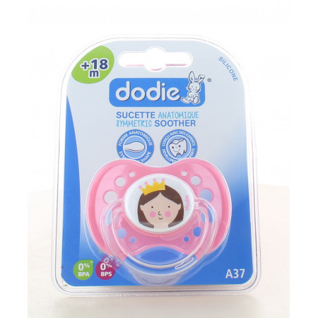 Dodie Sucette Anatomique Silicone Nuit +18m A37