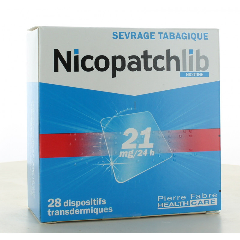 Nicopatchlib 21mg-24H 28 patchs
