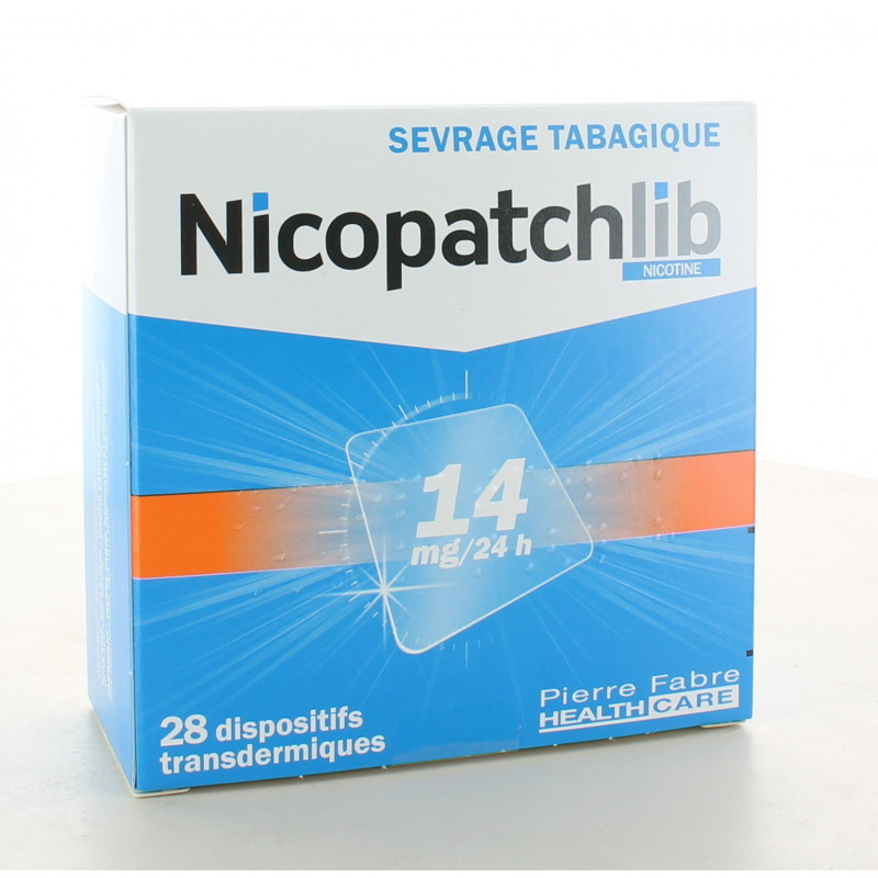 Nicopatchlib 14mg-24H 28 patchs