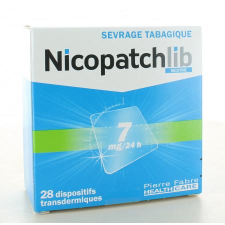 Nicopatchlib 7mg-24H 28 patchs