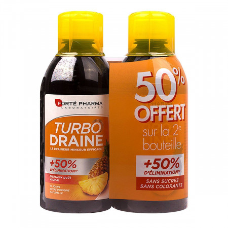 Turbo Draine Goût Ananas Forté Pharma 2x500ml
