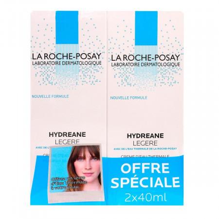La Roche-Posay Crème Hydréane Légère 2x40ml