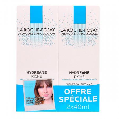 La Roche-Posay Crème Hydréane Riche 2x40ml