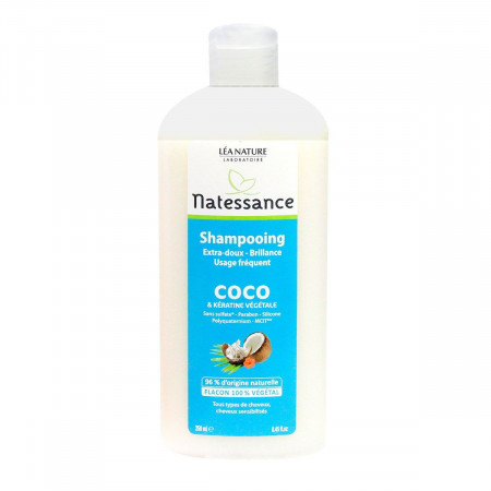 Shampooing Coco Extra-Doux Natessance 250ml