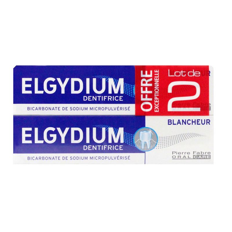 Dentifrice Blancheur Elgydium 2x75ml