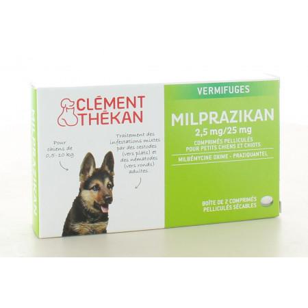 Milprazikan 2.5mg/25mg pour Petits Chiens et Chiots 2 comprimés