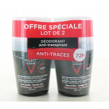 Déodorant Homme Bille Anti-transpirant 72h Vichy 2X50ml